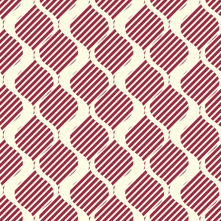 Vector ornamental continuous background made using undulate lines and diagonal stripes. Bright composition can be used as wallpaper pattern.