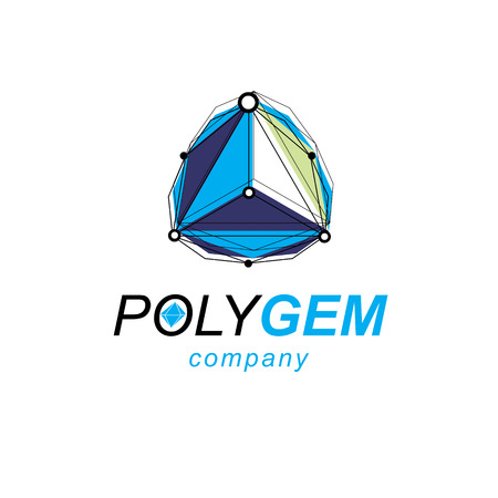 Technology corporate logo. Abstract vector, isometric dimensional shape. Illustration