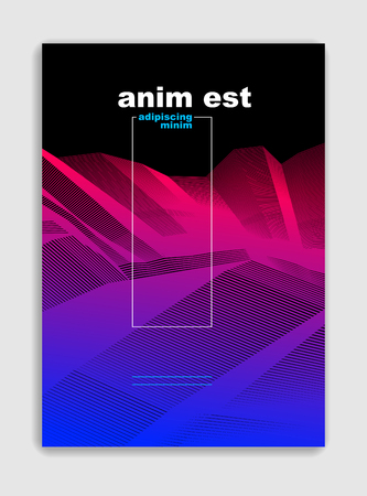Abstract line art vector minimal contemporary brochure design, cover template, geometric halftone gradient. For Banners, Placards, Posters, Flyers. Beautiful and special, pattern texture. Illustration
