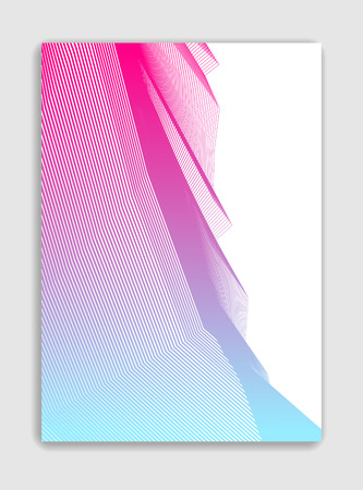 Art linear vector minimalistic trendy brochure design, cover template, geometric halftone gradient. For Banners, Placards, Posters, Flyers. Perfect and unlike, pattern texture.