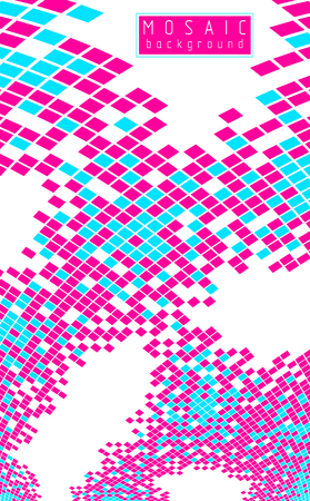 Beautiful abstract 3d vector mosaic background, artistic geometric illustration as a template for your layout with copy space for title and text. Usable for brochure, magazine, ad, banner, poster.