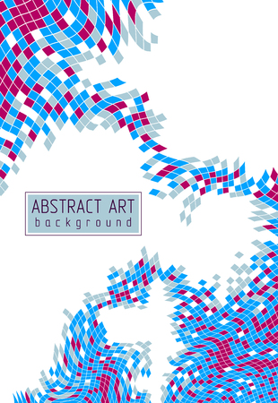 Abstract mosaic square tiles art illustration, vector artistic design background with copy space for text and title. Usable for brochure, magazine, ad, banner, poster.