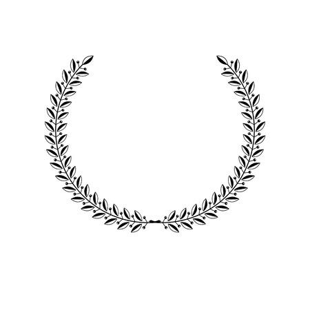 Laurel Wreath floral ancient emblem. Heraldic vector design element. Retro style label, heraldry logo. Illustration