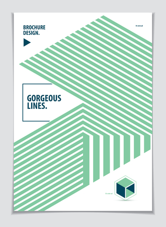 Abstract Modern Vector minimal template Flyer. Vector geometric pattern abstract background. Design template for booklet, greeting card, invitation and advertising. A4 print format.