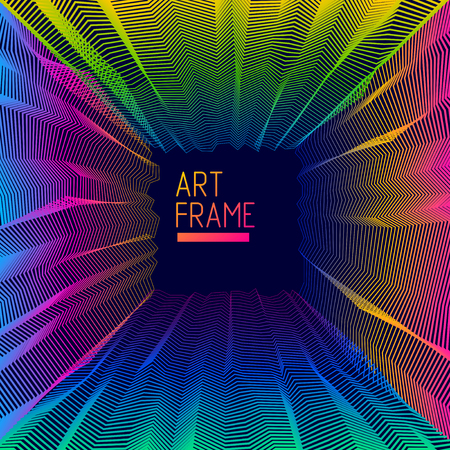Abstract art vector background for modern trendy great design, line art surface textures, 3d dimensional space. Fantastic psychedelic trendy modern op art, optical dimensional illusion. Illustration