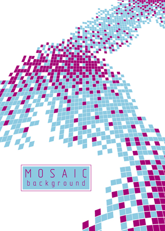 Abstract vector background of great geometric 3d mosaic art, artistic illustration as a template for your layout with copy space for title and text. Usable for brochure, magazine, ad, banner, poster.