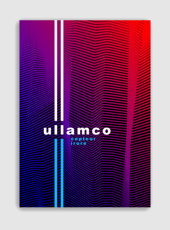 Line art vector minimalistic modern brochure design, cover template, geometric halftone gradient. For Banners, Placards, Posters, Flyers. Perfect and unlike, pattern texture.