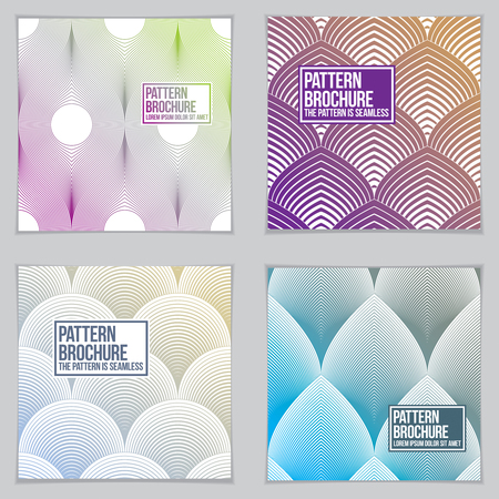 Template for Covers, Placards, Posters, Flyers and Banners Designs. Cool geometric vector set line backgrounds for your designs. Minimalistic brochure designs.