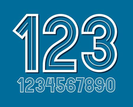 Un ensemble de nombres vectoriels arrondis audacieux rétro peut être utilisé pour la création de conception. Vecteurs