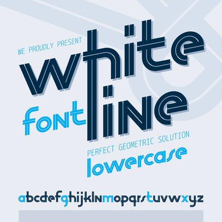 Vector regular lower case English alphabet letters collection with white stripes, for use in   design for news and broadcasting company.