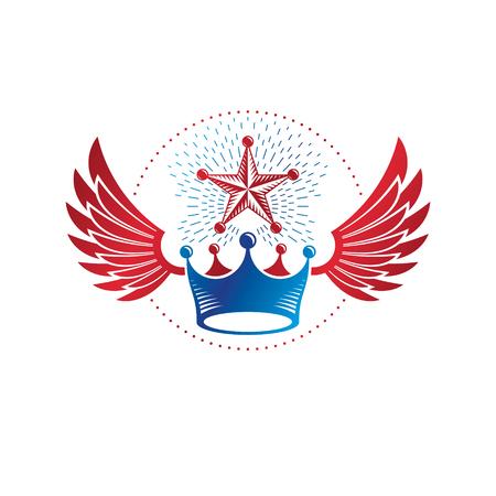 Royal Crown emblem. Heraldic Coat of Arms decorative emblem isolated.