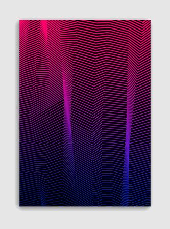 Líneas abstractas vector diseño de folleto moderno mínimo, plantilla de cubierta, gradiente de semitono geométrico. Para pancartas, carteles, carteles, folletos. Textura de patrón hermosa y especial.