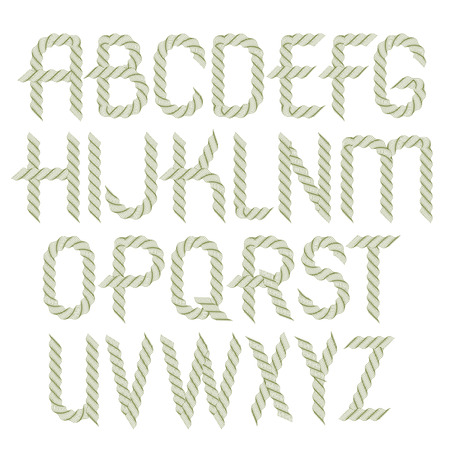 Set of vector rounded upper case alphabet letters isolated created using guilloche pattern, microprint tracery. Can be used in poster design as banking services advertising.