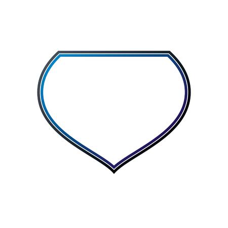 Cadre héraldique vierge avec copie-espace, emblème de bouclier de protection vintage vector.
