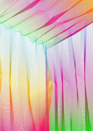 Vector illusive surreal art background for design like a hallucination drug trip surrealism, linear 3d trend. Fantastic psychedelic trendy modern op art, optical dimensional illusion.