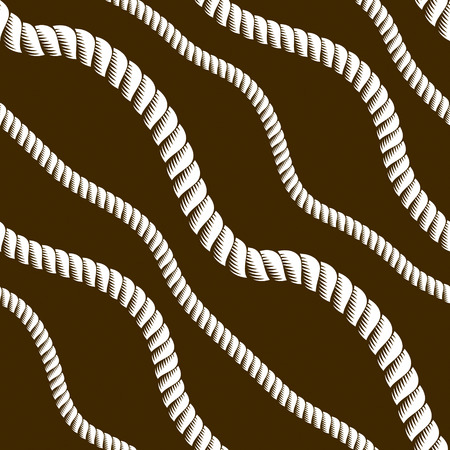Seamless nautical rope pattern vector. Endless navy illustration with loop cord lines ornament. Minimalistic simple cord stylish illustration. Usable for fabric, wallpaper, wrapping, web and print.