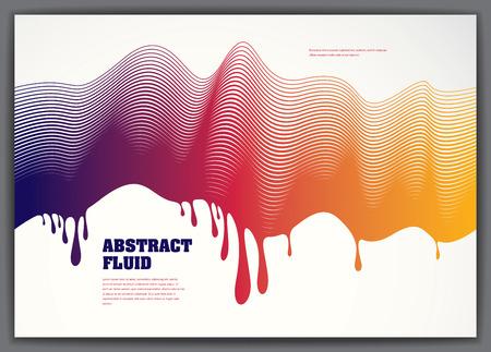 Lined vector wave background fluid flow. 3d dynamic stripes motion art. Lined texture, dynamic surface, curve lines, flow shape. Illustration