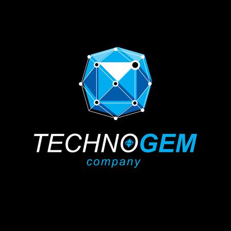 Innovation technologies logo. Tech abstract shape, polygonal figure.