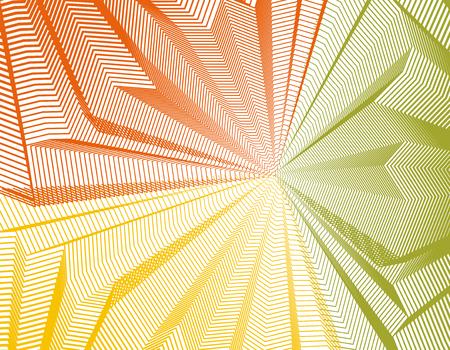 Vector surreal illusion art for design, line art 3d dimensional textured inner space, hallucinogen drug trip theme. Fantastic psychedelic trendy modern op art, optical dimensional illusion.