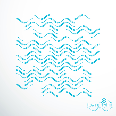 Flowing rhythm, abstract wave lines vector background for use in graphic and web design.  Illustration