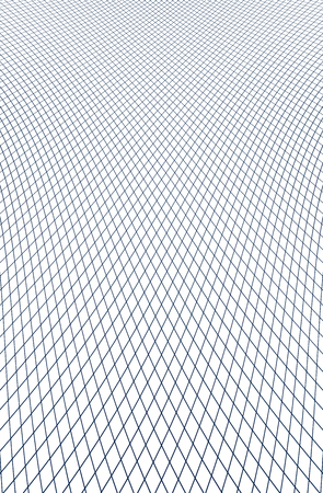 Abstract 3d linear mesh vector background, abstract dimensional lattice surface illustration. Illustration