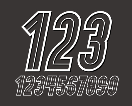 vector, set, collection, design, element, isolated, 1, 2, 3, 4, 5, 6, 7, 8, 9, 0, number, numeric, unit, countdown, amount, graphic, symbol, character, logo, vintage, retro, 70s, hipster, nostalgia, decorative, delicate, placard, tall, cool, typography art, press, festive, ceremonial, 80s poster, eighties, trend, rounded, art, ornament, freaky, affiche, advertising, Logo