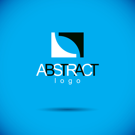 Vector geometric conceptual shape can be used as business innovation idea creative icon. Illustration