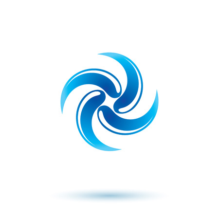 Pure water vector abstract icon for use as marketing design symbol. Human and nature coexistence concept. Illustration