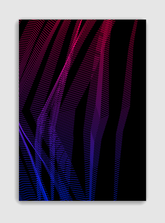 Abstract line art vector minimal contemporary brochure design, cover template, geometric halftone gradient. For Banners, Placards, Posters, Flyers. Beautiful and special, pattern texture. 向量圖像