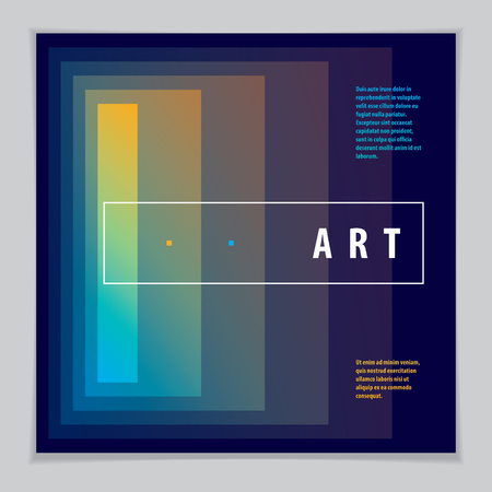 Minimalistic cover brochure design. Vector geometric abstract background. Layout for Cover, Placard, Poster, Flyer and Banner Design.
