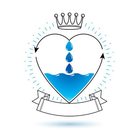 Vektorblaues klares Wassertropfenlogo zur Verwendung als Marketingdesignsymbol Körperreinigungskonzept. Logo