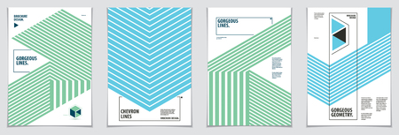 Minimalistic cover brochure designs. Vector geometric patterns abstract backgrounds set. Layouts for Covers, Placards, Posters, Flyers and Banner Designs. A4 print format.