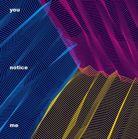 Vector surreale Illusionskunst für Design, Maßstrukturierter Innenraum der Kunst 3d, halluzinogenes Drogenreisethema. Fantastische psychedelische modische moderne OPkunst, optische Maßtäuschung.