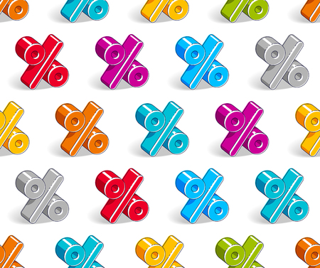 Percent symbols seamless background, backdrop for taxes or accounting website, vector wallpaper or web site background.