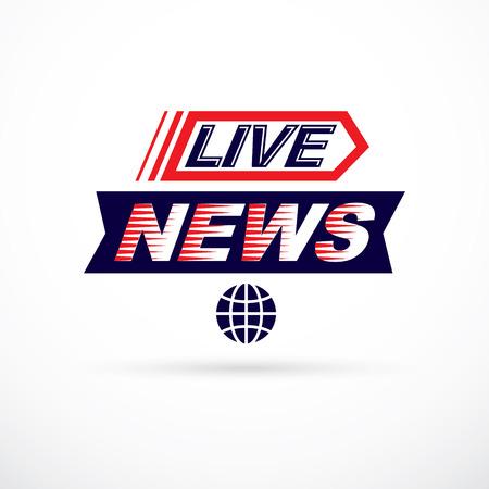 Live news inscription Ilustração