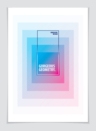 Retro template for banner, advertising, poster and brochure. Abstract geometric vector background. Future geometric design template. Illustration