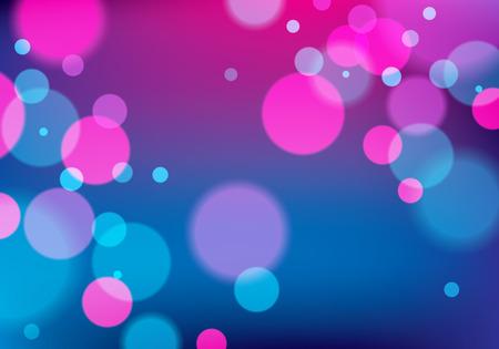 Defocused lights background. Bokeh effect texture. Beautiful vector abstract illustration. Holidays magic festive shiny theme.  イラスト・ベクター素材