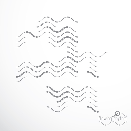 Abstract lines background, engineering technology vector wallpaper. Art graphic illustration. Stock Vector - 124973689