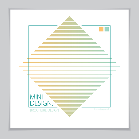 Futuristic minimal brochure graphic design template. Vector geometric pattern abstract background. Design template for flyer, booklet, greeting card, invitation and advertising.