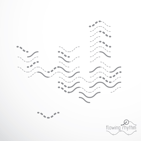 Abstract lines background, engineering technology vector wallpaper. Art graphic illustration. Vetores