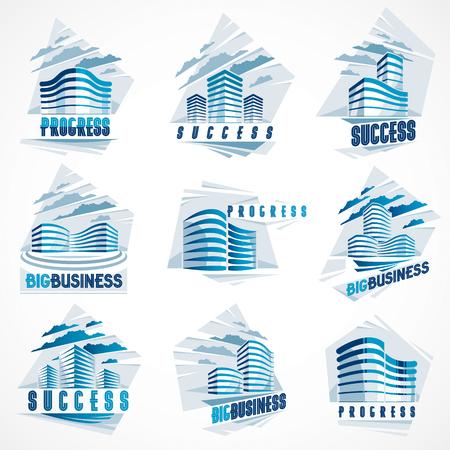 Business buildings set