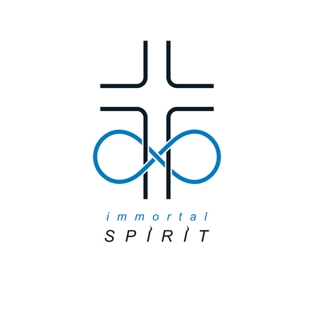 Everlasting Christian Belief in God  creative symbol design