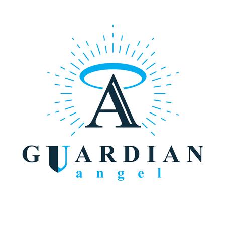 Symbole conceptuel de vecteur archange à utiliser dans les organisations de catéchèse.