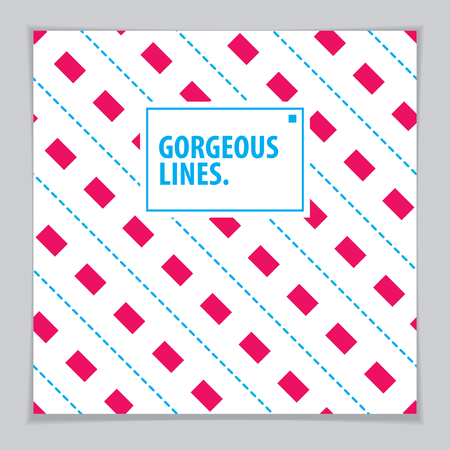 Cover with minimal design. Web, commerce or events vector graphic design template. Vector geometric pattern used in modern design. Minimalistic brochure design.
