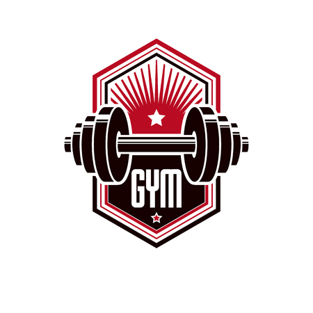 Fitness and heavyweight gym sport club logotype template