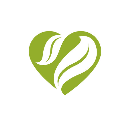 Vector illustration of romantic heart. Homeopathy creative symbol, naturopathy theme. Illustration