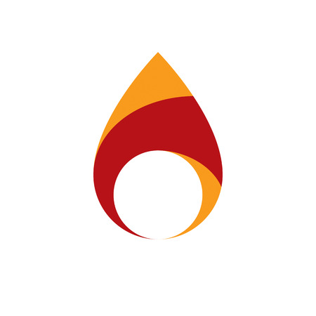 The power of burning flame, fire element abstract vector illustration for use in graphic design.