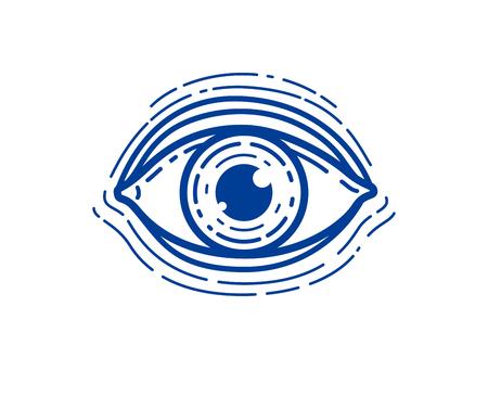 Eye linear vector design element