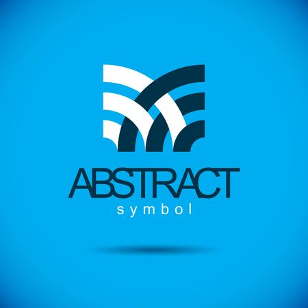 Vector abstract geometric shape best for use as corporate development logo, symbol. Modern logothype. Ilustração