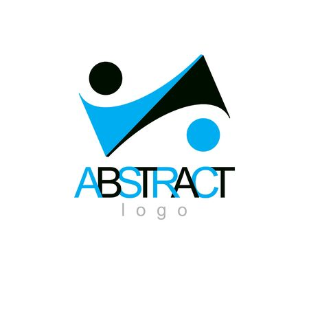 Vector conceptual geometric form can be used as business innovation logo.